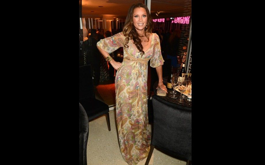 Vanessa Williams was also present at HBO's soiree giving us a hippie feel while rocking a paisley print gown. Photo Credit: WENN