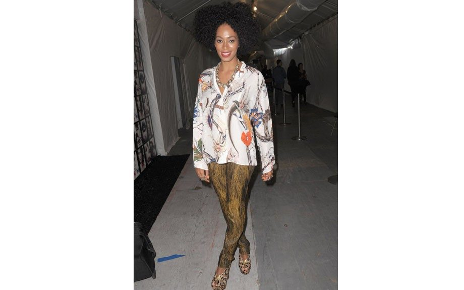 DJ and singer Solange Knowles in NYC