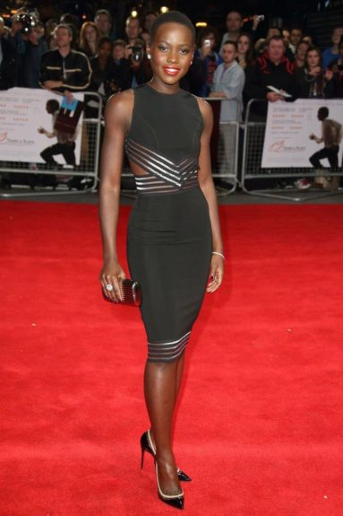October 18, 2013: Actress Lupita Nyong'o took to the red carpet of the 57th BFI London Film Festival for the Accenture Gala Screening of <em>12 Years a Slave</em>.<br />