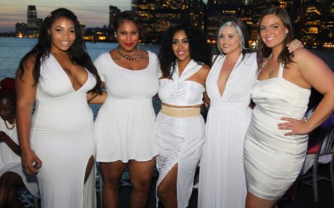 [CURVY + PLUS] It Was All White Everythang at Full Figured Fashion Week!