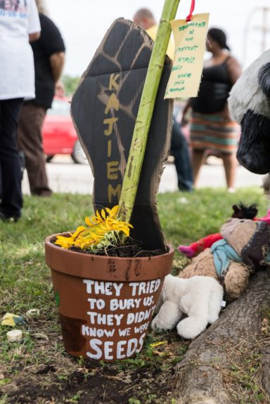 """They tried to bury us. They didn't know we were seeds.""   	Photo Credit: Aaron Banks"