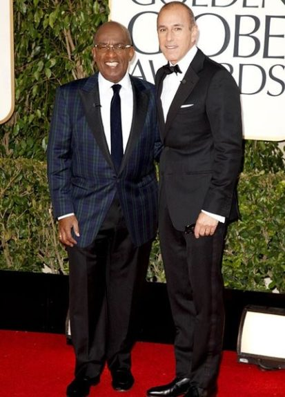 Al Roker (l.) at the 72nd annual Golden Globe Awards