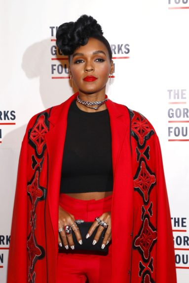 Janelle Monáe arrives at the Gordon Parks Foundation Awards Dinner and Auction.