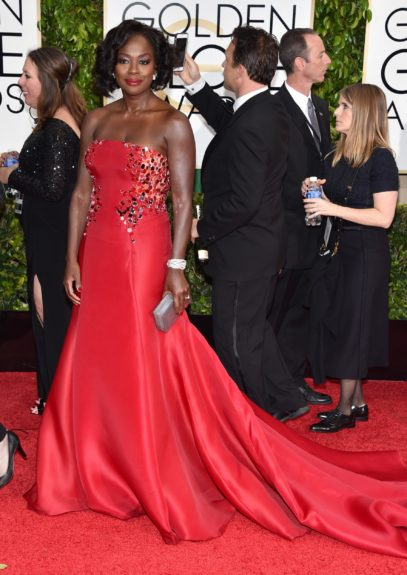 <em>How to Get Away With Murder</em>'s Viola Davis at the 72nd annual Golden Globe Awards