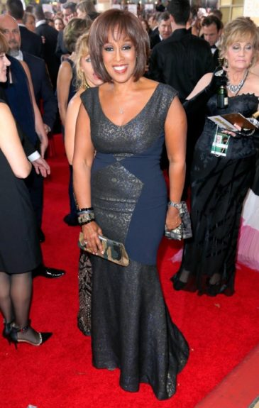 Gayle King at the 72nd annual Golden Globe Awards