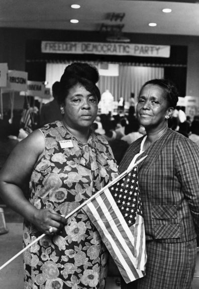From the EBONY Collection, symbols of an emerging South Fannie Lou Hammer and Ella Baker attending the Freedom Democratic Party. (Maurice Sorrell) View the entire EBONY Collection by selecting STORE in the upper right corner of the homepage.