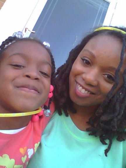 My best friend from high school, Giovanna and her 5 year old daughter, Zahara