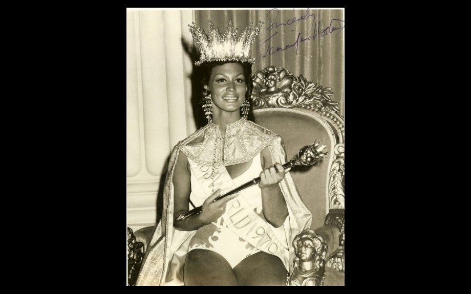 "Jennifer Josephine Hosten becomes the first Black woman to win the title of ""Miss World"" in 1970."