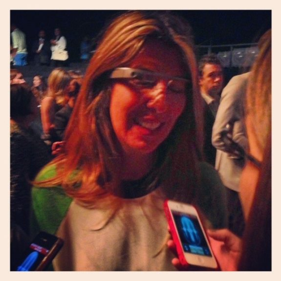 Marie Claire, Creative Director of <em>Marie Claire</em>, is rocking the cool Google Glass.