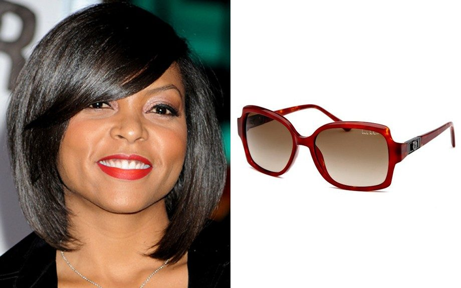 """For a round shaped face: Nicole Miller Sheridan Rectangle Sunglasses, $45 (belleandclive.com) Image Source:<a href=""""http://www.instyle.com/instyle/package/general/photos/0,,20441627_20443214_20868399,00.html"""" target=""""_blank"""">InStyle</a>"""