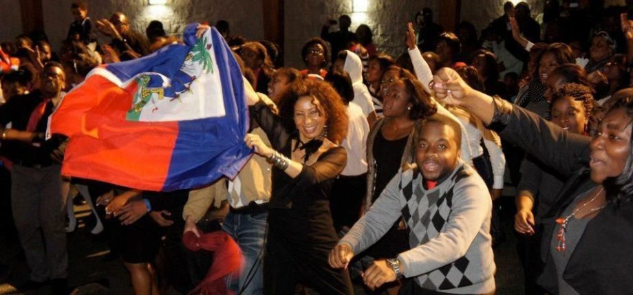 Michèle shows off her Haitian pride.