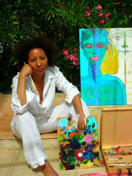 """The self-taught painter knew art was her calling. """"I looked at a lot of art work, went tirelessly to museums and studied different techniques. I then started developing my own way of painting,"""" reveals Michèle."""