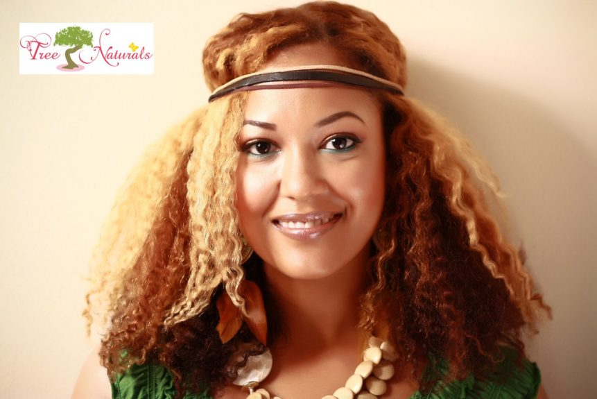 "<strong>LaTresha ""Tree"" Sayle of Tree Naturals: </strong>Tree Naturals is an Asian influenced brand to ""create a sense of calm & well-being."" Her products are infused with exotic herbs and fair trade butters that are used to moisturize the hair."