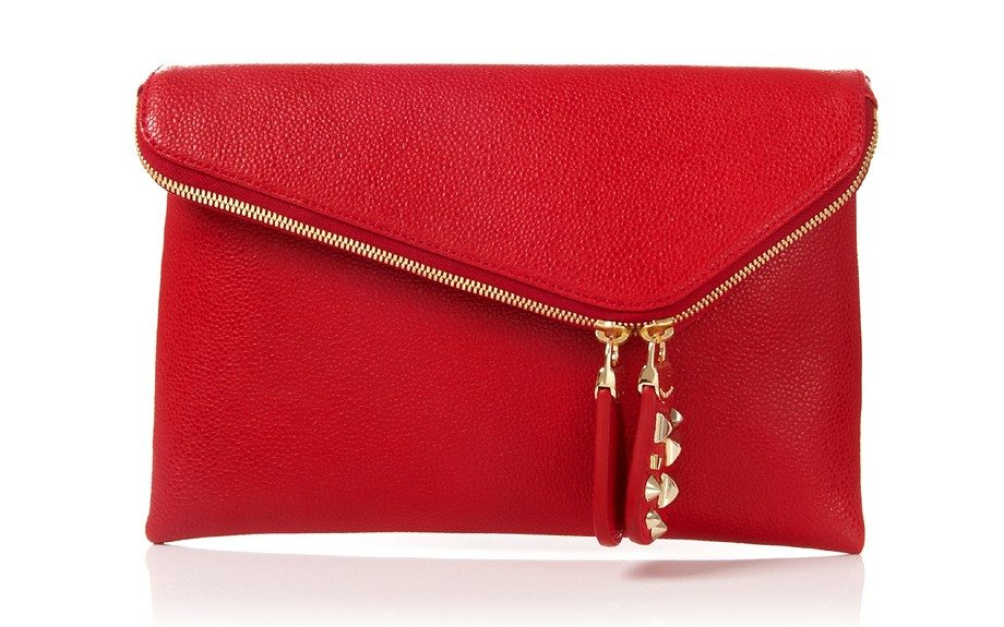 """One of the """"B's"""" of fashion, this Henri Bendel clutch will have her gleaming with surprise ($250; henribendel.com)"""