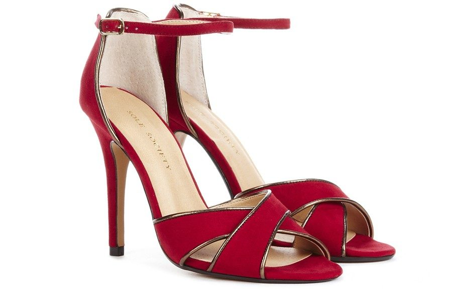 She'll be the life of the party in these fiery red heels ($49.95; solesociety.com)