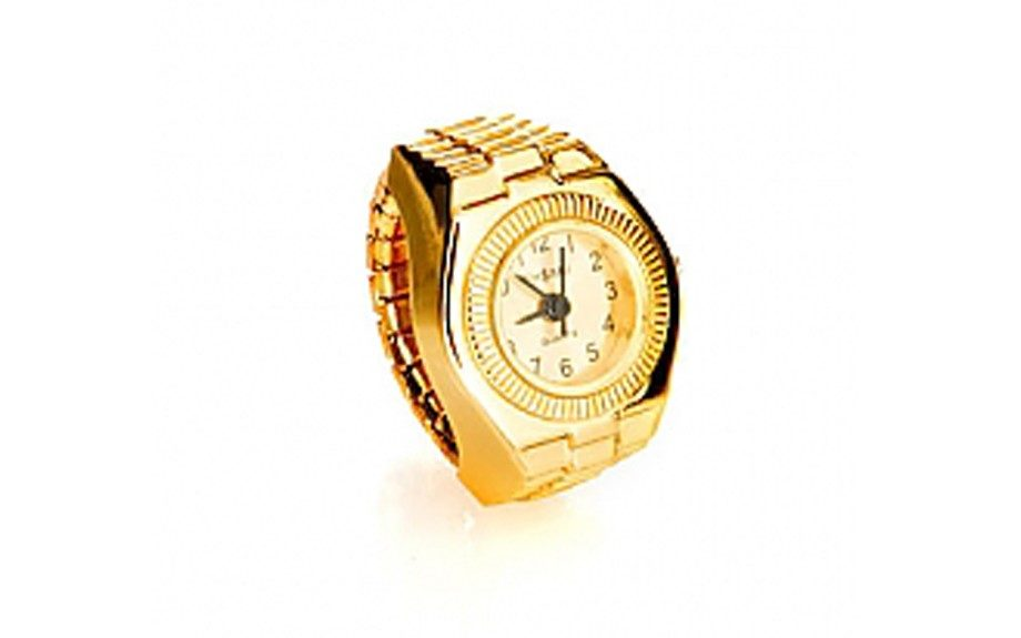 Get your time on the low with this slick Finger Watch ring ($20; melodyehsani.com)