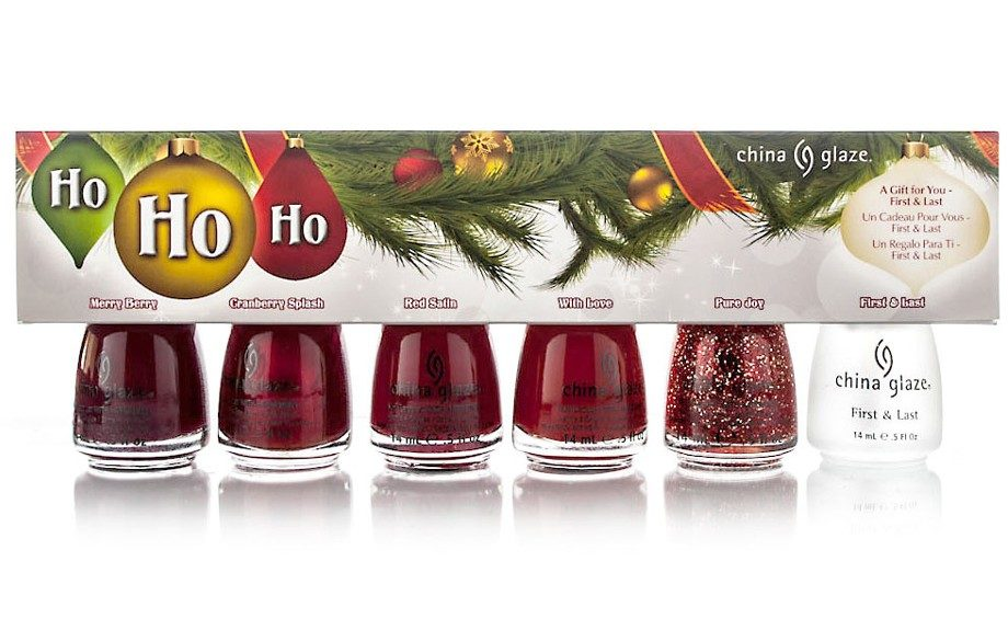 Get the best holiday nails with China Glaze's Holiday set! ($19.99; Sally Beauty Supply Stores)