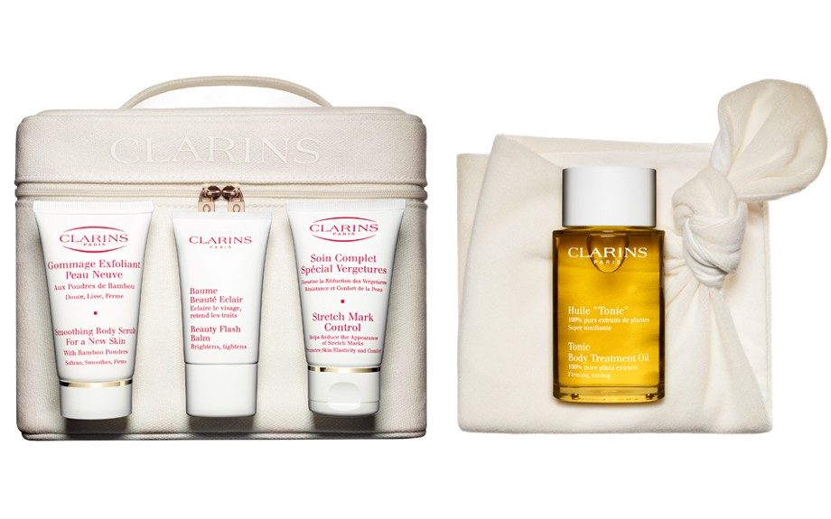 The mommy-to-be will have beautiful beginnings with the Clarin'sPregnancy Kit ($60; clarinsusa.com)