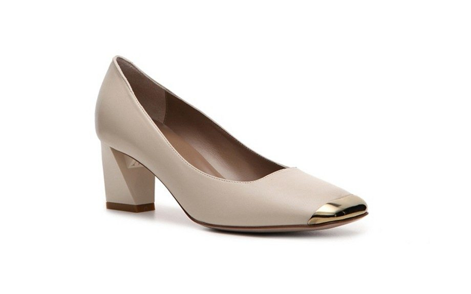 This Bruno Magli pilgrim pump is superbly chic and has New Age elegance. ($129.94; dsw.com)