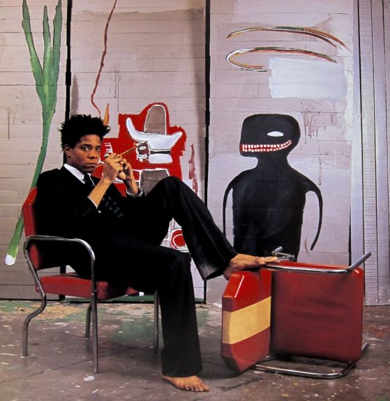 Barefoot Basquiat in a designer suit on the cover of <em>The New York Times </em><em>Magazine</em> a few years before his last gasp in '88.
