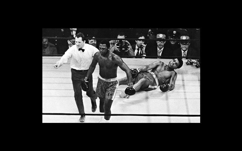 Joe Frazier Knocking Out Muhammad Ali at Madison Square Garden, 1971