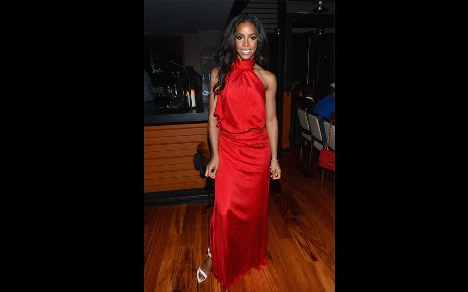 "Kelly Rowland was the celebrity host of ""Hotel Noir"", the exclusive launch of Grey Goose's Cherry Noir last night at New York City's ultra swanky Gansevoort Hotel. Kelly donned a red super sexy gown fitting for the occasion"