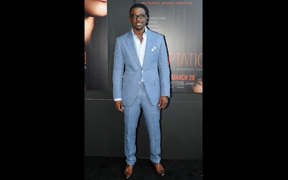 Sharp at the Temptation movie premiere