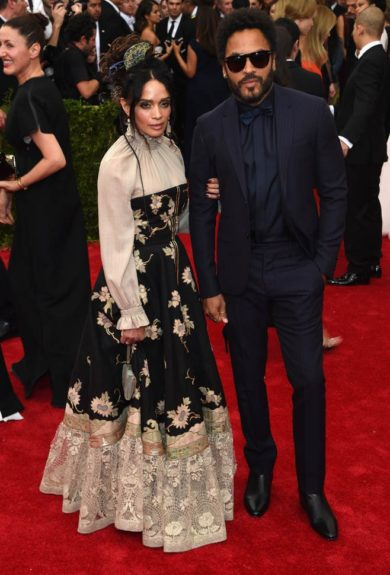 Lenny Kravitz and Lisa Bonet at the 2015 Met Costume Institute Gala