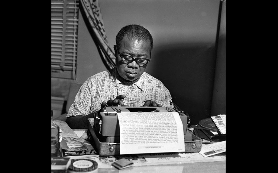 From theEBONY Collection, Louis Armstrong writer his memoirs in his home, 1954.View the entire EBONY Collection by selecting Store in the upper right corner of the homepage.