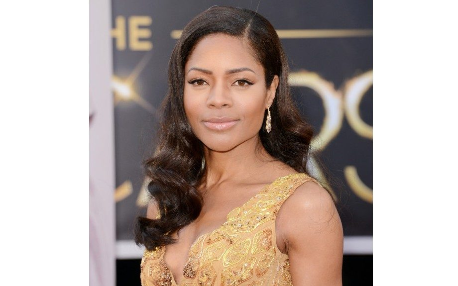<em>Skyfall</em> actressNaomie Harris looked stunning on the red carpet in a Michael Badger designed dress and classic Hollywood waves. <em>Image Courtesy of Vidal Sassoon Pro Series </em>