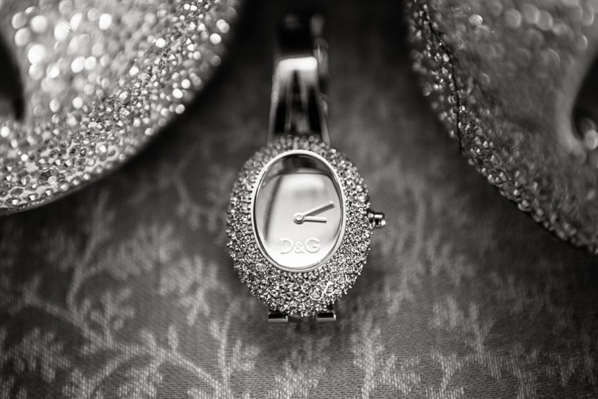 A bride must know what time it is—D&G style!