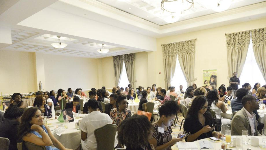 Guests enjoying the Beauty Boss Panel with Charlene Dance.