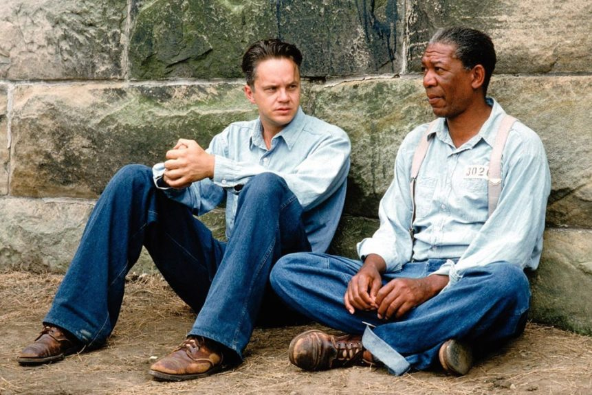 <em>The Shawshank Redemption</em> (1994): In the tradition of friendly Black-White prisoners going back to <em>The Defiant Ones</em>, Morgan Freeman and Tim Robbins star as two of the craftiest inmates at Shawshank State Penitentiary.