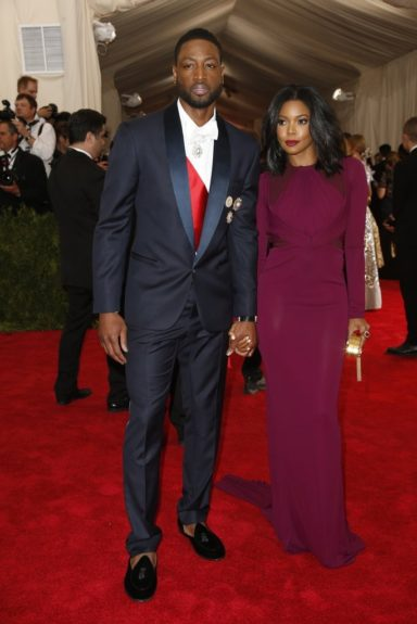 Dwyane Wade and Gabrielle Union at the 2015 Met Costume Institute Gala