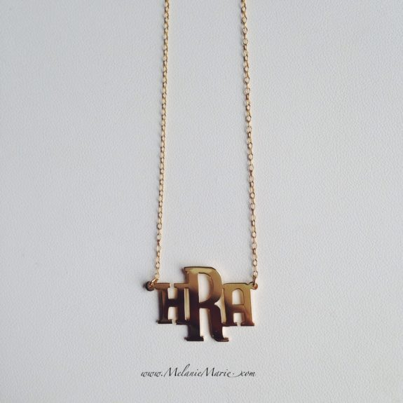 "<a href=""http://melaniemarie.com/shop/gold-collection/block-monogram-necklace/"" target=""_blank"">Block Monogram Necklace </a>"