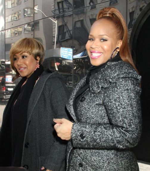 March 28, 2012: Erica Atkins-Campbell and Trecina Atkins-Campbell of Mary Mary make an appearance on 'Good Day NY' today in New York City to promote their new reality show.