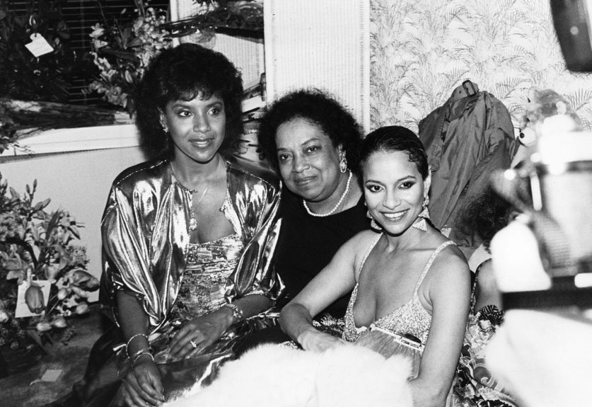 "Debbie Allen poses with sister Phylicia Rashad and mother Vivian Allen at the premiere of the broadway play ""Sweet Charity Revival"". (Robert E. Johnson/Ebony Collection)  	View the entire EBONY Collection <a href=""http://www.ebony.com/store#axzz2PsEj7sec"" target=""_blank"">h"