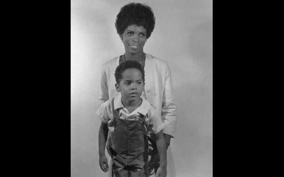 Legendary actress Roxie Roker and son, the would-be rocker Lenny Kravitz