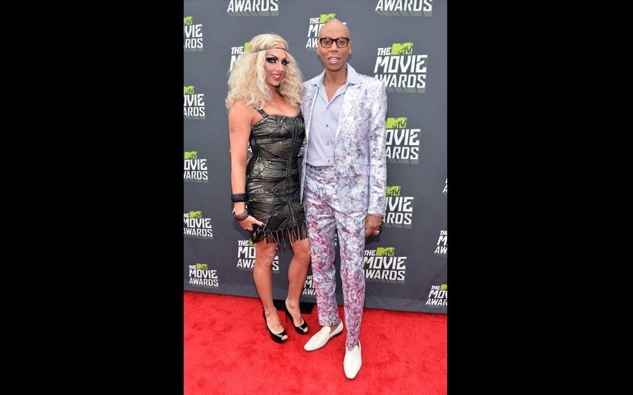 TV personality RuPaul (R) and Alyssa Edwards (Photo by Alberto E. Rodriguez/Getty Images)