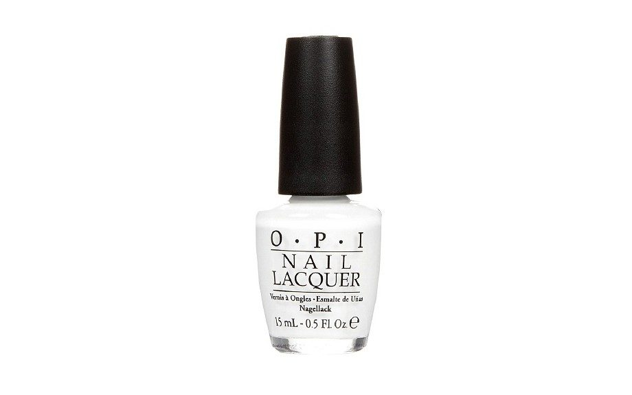 "The white: <a href=""http://www.drugstore.com/opi-classics-collection-nail-lacquer-alpine-snow/qxp467788"" target=""_blank"">OPI's Alpine Snow</a>"