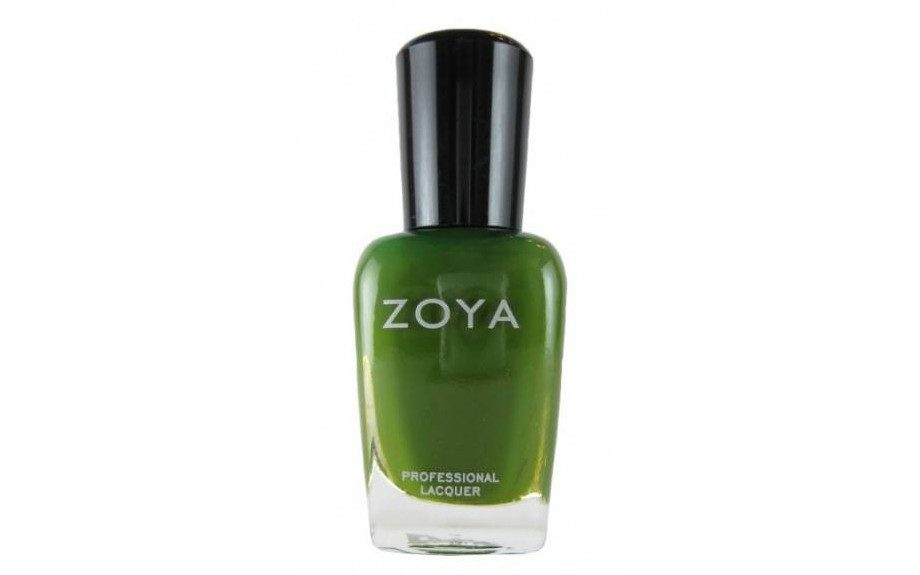 """ThisZoyaShawn nail polish would give you the camouflage speckles you need to achieve this design, $9,<a href=""""http://www.zoya.com/content/item/Zoya/Zoya-Nail-Polish-Shawn.html"""" target=""""_blank"""">zoya.com</a>."""