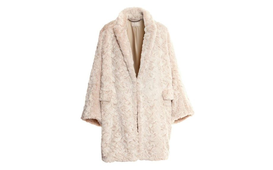 "H&M Wool-Blend Coat $129, <a href=""http://www.hm.com/us/product/19739?article=19739-B"" target=""_blank"">www.hm.com</a>."
