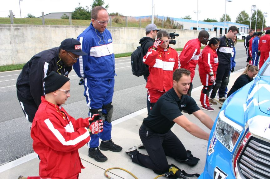 Front-tire crash-course at the Performance Instruction and Training School in Race City, USA (Mooresville, NC). These guys make it look WAY easier than it is