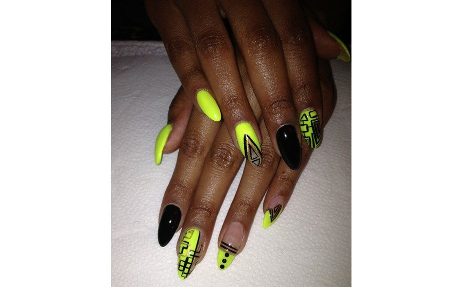 """""""I love what I do,"""" shares D.Malone of """"D's on the Spot Nails"""" mobile nail service. Check her out on IG @therealdmalone"""