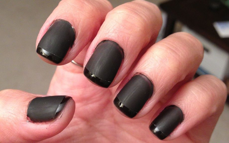 Hana did so great for her first try at matte nails!