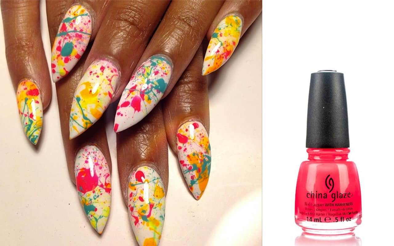 Nail Files How To Splatter Design Your Nails Ebony