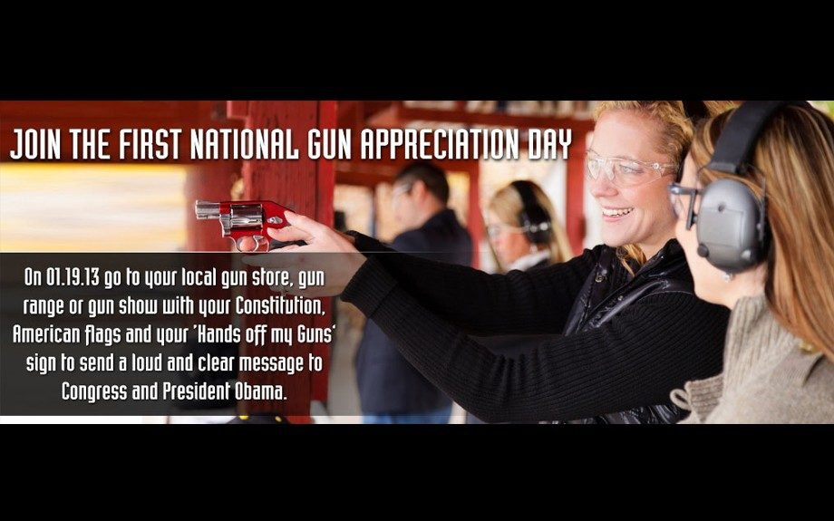 """First """"Gun Appreciation Day"""" scheduled days before Inauguration and a month after Sandy Hook"""