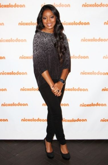 KeKe Palmer, cute and casual for Nickelodeon's 2012 Upfronts