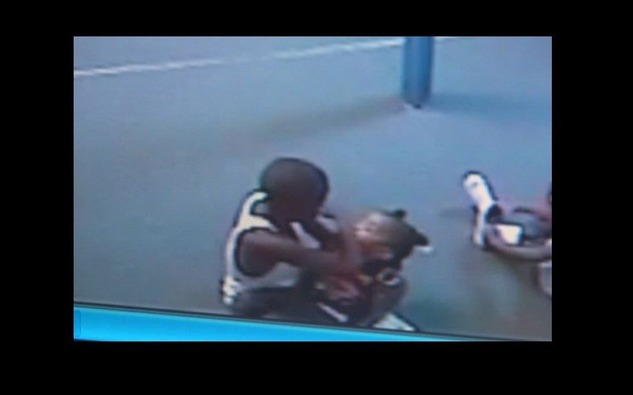 Nine-year-old child was caught on camera in a childcare center punching and kicking toddlers while daycare workers weren't looking.