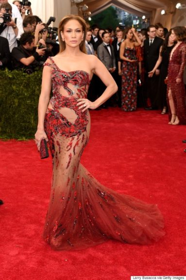 Jennifer Lopez at the 2015 Met Costume Institute Gala